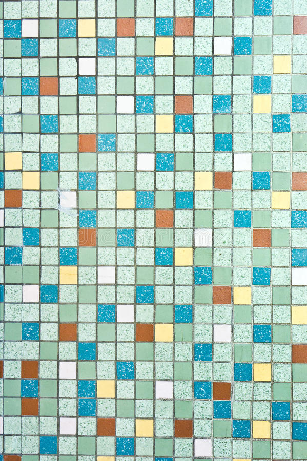 Tiles background. A wall of red, yellow and blue tiles as a background royalty free stock image