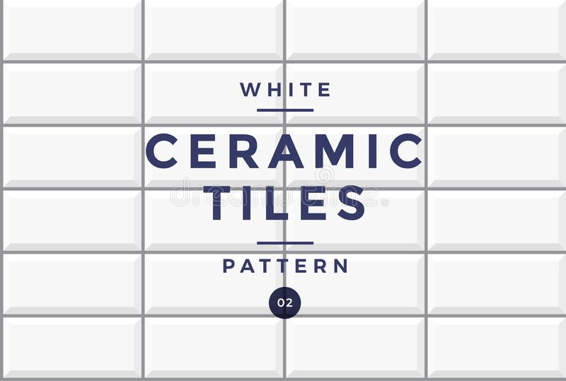 Tiles for cladding. White ceramic mosaic pattern of rectangular shape. Vector drawing vector illustration