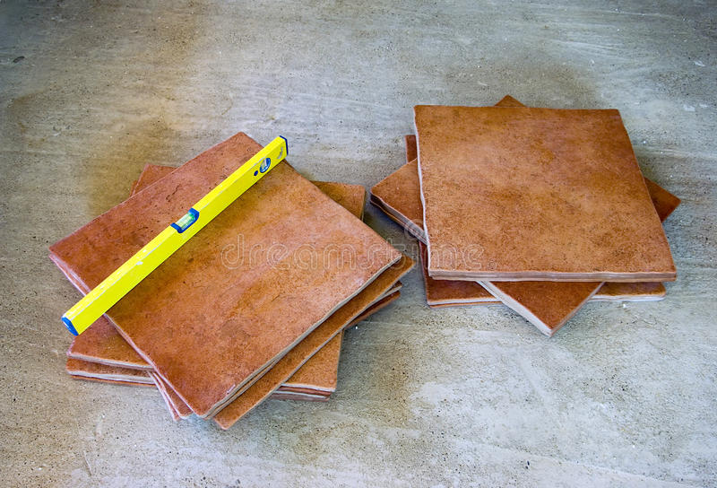 Tiles on ground royalty free stock photo