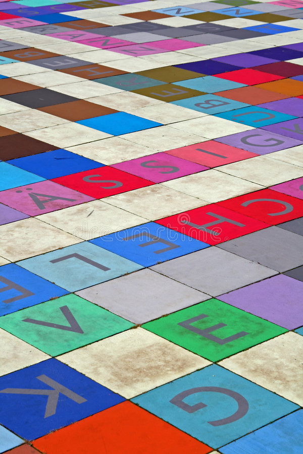 Tiles with letters royalty free stock photography