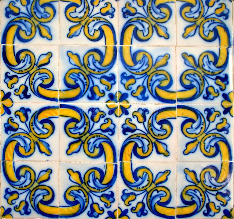 Tiles of Loios convent in Santa Maria da Feira. Portugal royalty free stock images