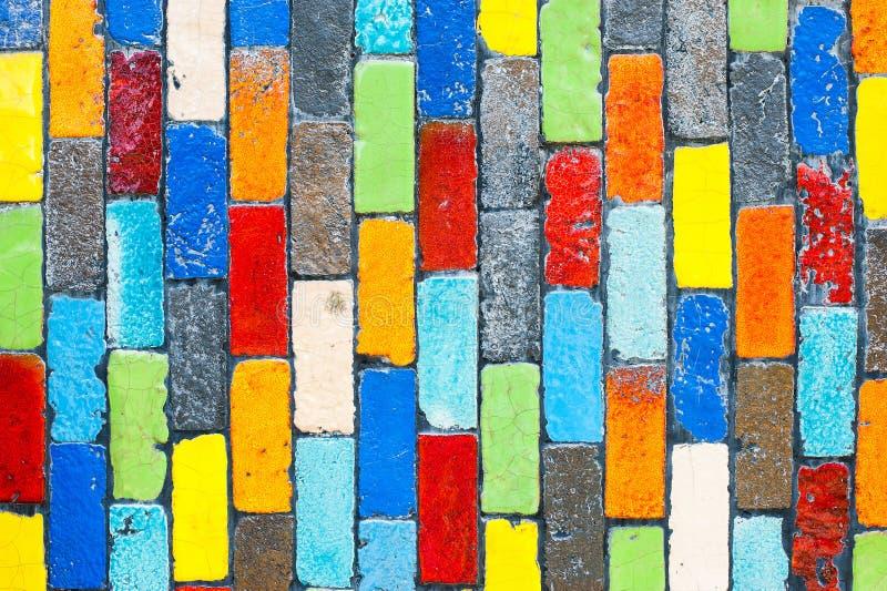 Tiles multicolored Rectangular shaped brick stock photo