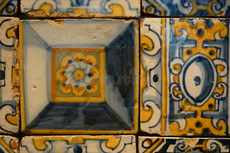 Tiles. Old portuguese traditional tiles lisbon royalty free stock image