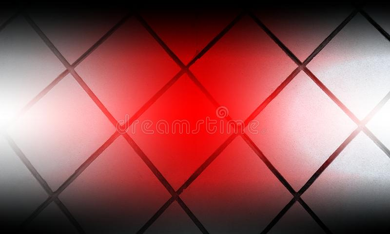 Tiles pattern with blurred shaded red white colors wallpaper background stock illustration