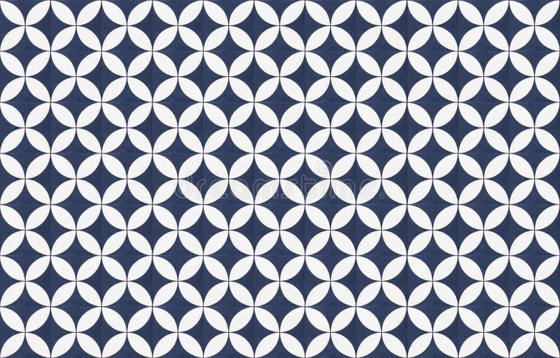 Tiles pattern design geometric mosaic stock image