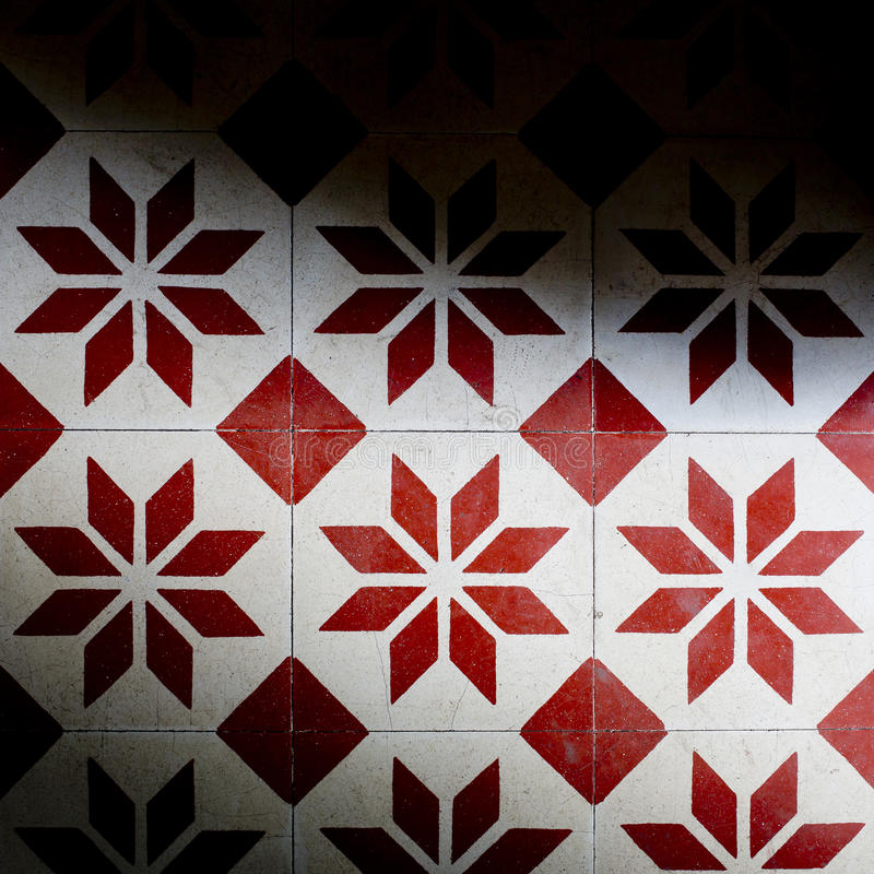 Tiles red and white colors background texture stock images