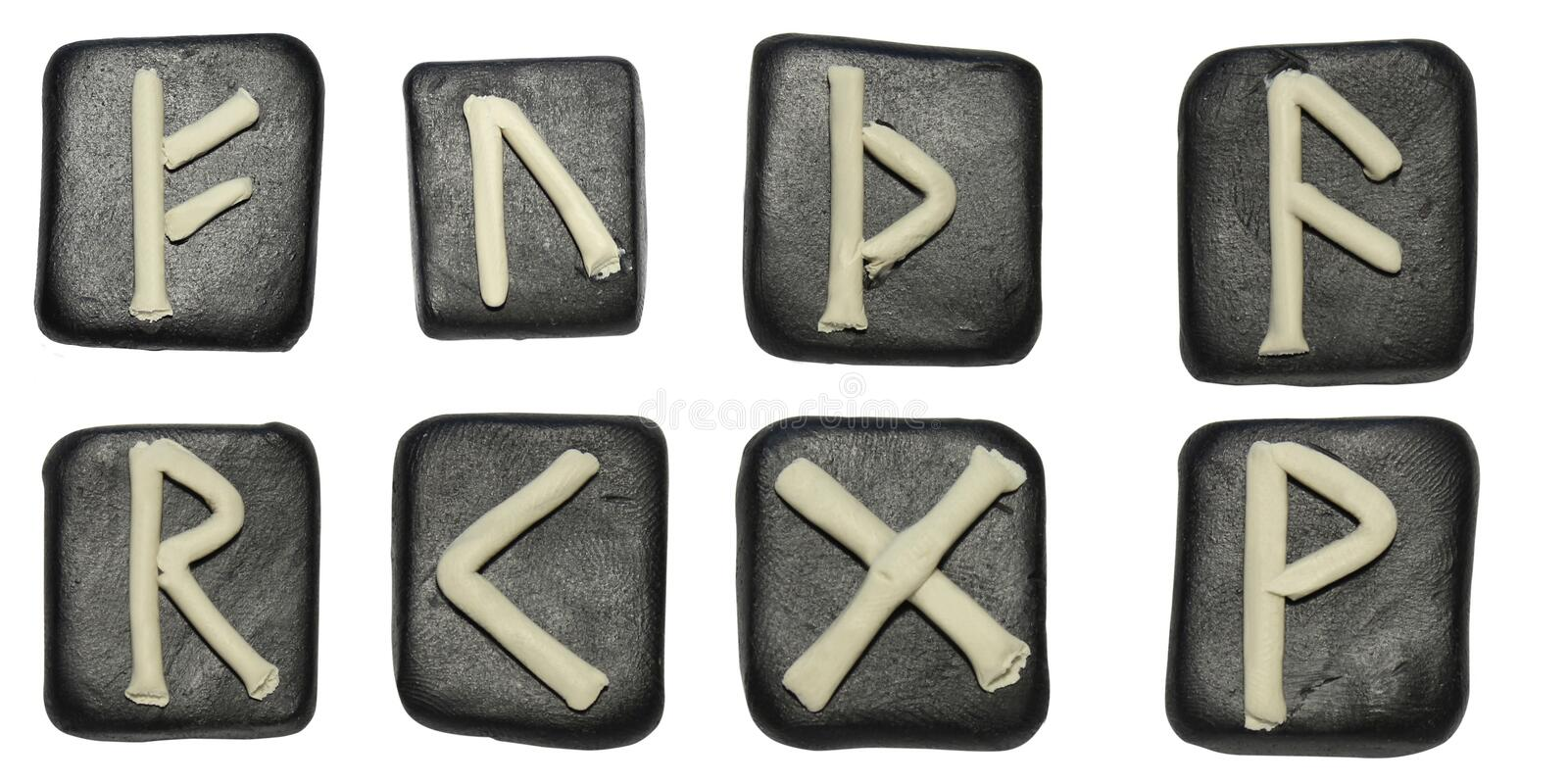 Tiles with runes royalty free stock image