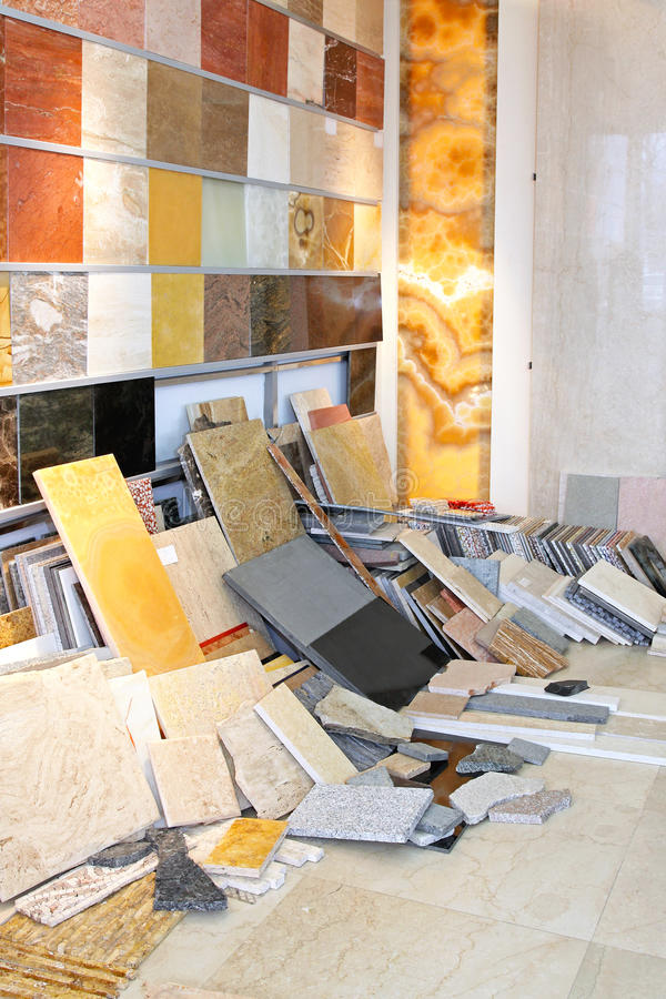 Tiles shop stock image. Image of stone, various, storage - 33735981