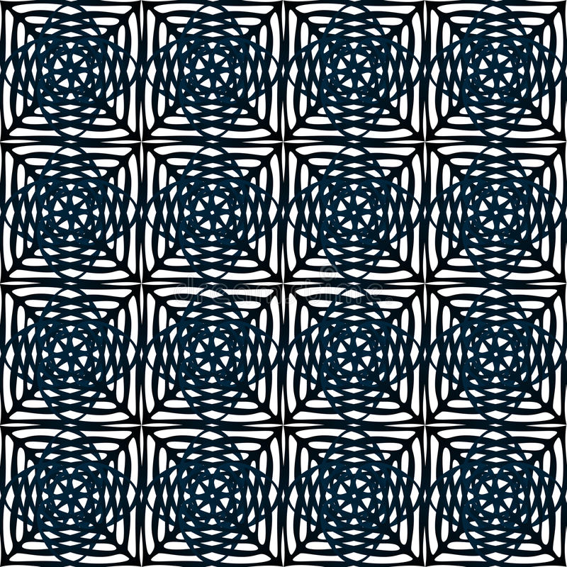 Tiles Squares seamless pattern royalty free illustration