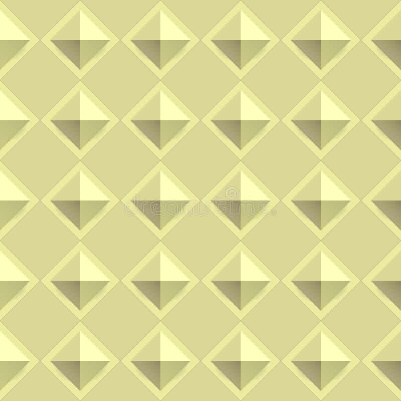Tiles texture from gold metal blocks. Seamless pattern vector illustration