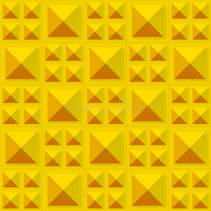 Tiles texture from gold metal blocks. Seamless pattern royalty free illustration