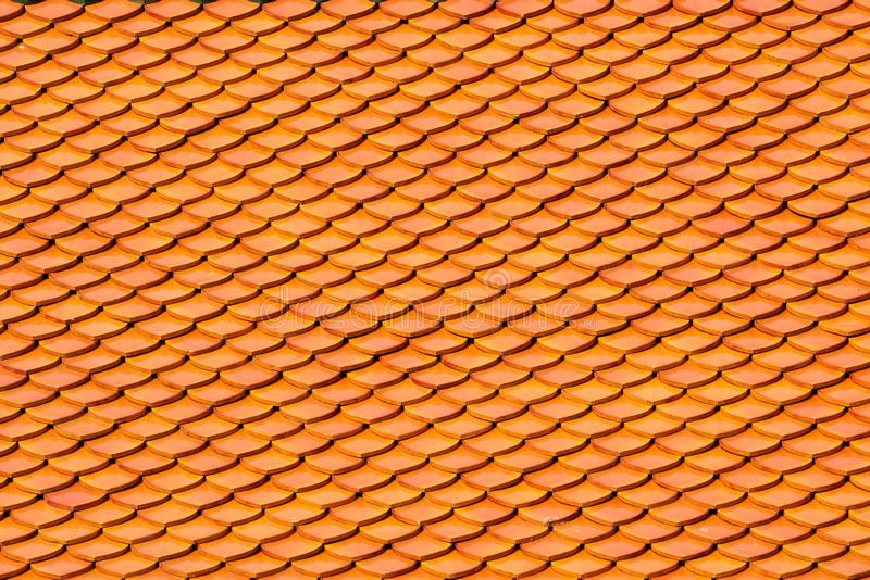 Tiles textures on the roof top, old castle,Thai temple for background.  stock photo