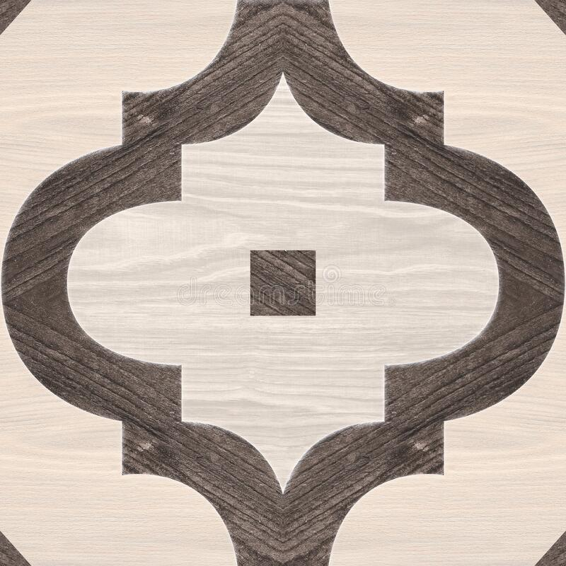 Geometric pattern wooden floor and wall mosaic decor tile royalty free stock photo
