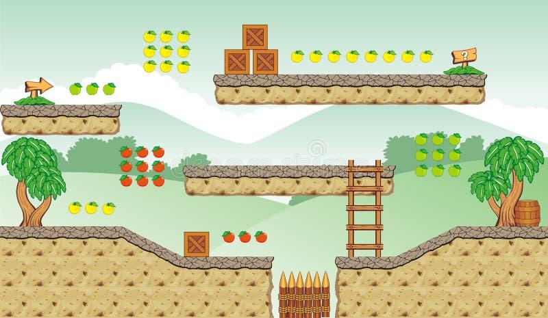 Tileset 12 del juego ilustración del vector