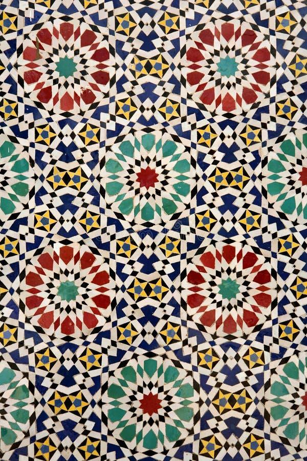 tilework szczegółowo marokańskiego obraz stock