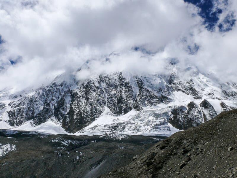Tilicho峰顶,尼泊尔 免版税库存图片