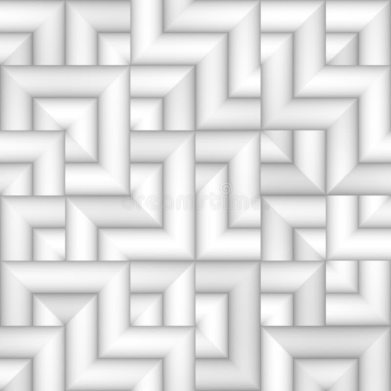 Tiling градиента растра картина безшовного Greyscale тонкого скачками геометрическая квадратная бесплатная иллюстрация