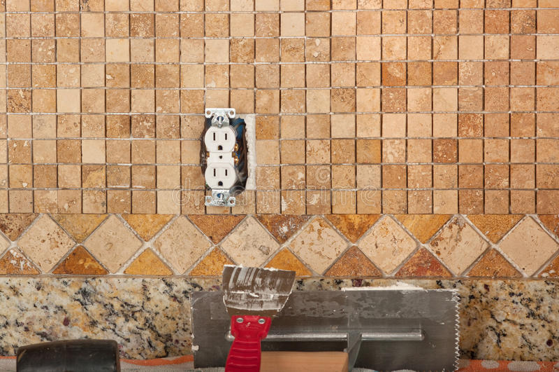 Download Tiling stock image. Image of trowel, ceramic, stone, working - 27295949