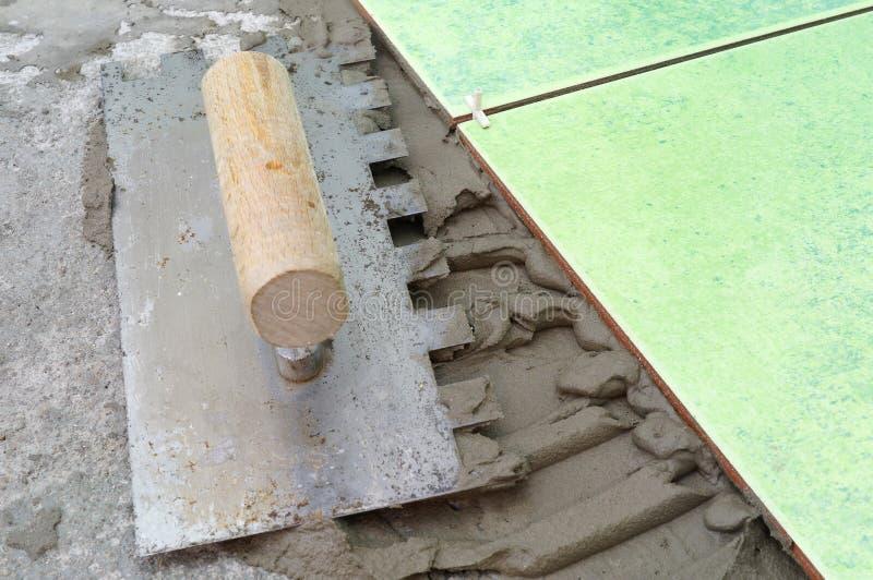 Tiling renovation stock photography