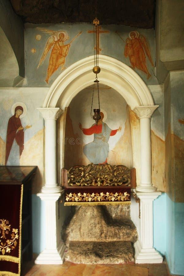 Till legenden flyttade fram Kristus i kloster av konstgjort royaltyfri bild