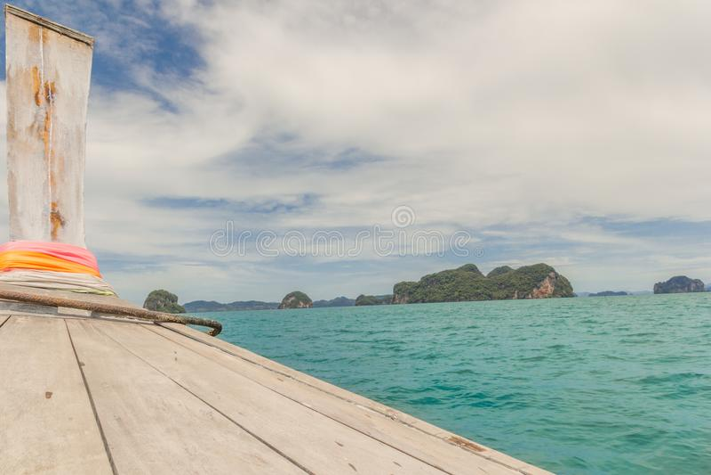 Till och med havet av Thailand royaltyfri foto