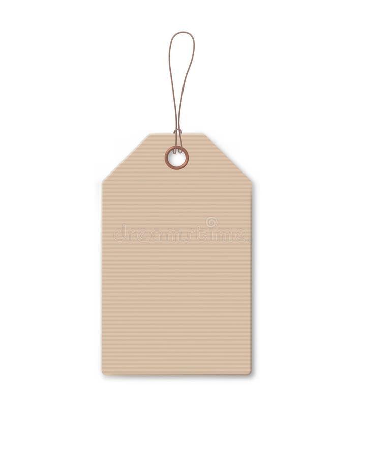 Till salu aktion för brun pappprislapp vektor illustrationer