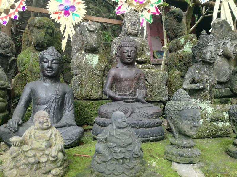 Till salu Hottey och Buddhastatyer arkivbild