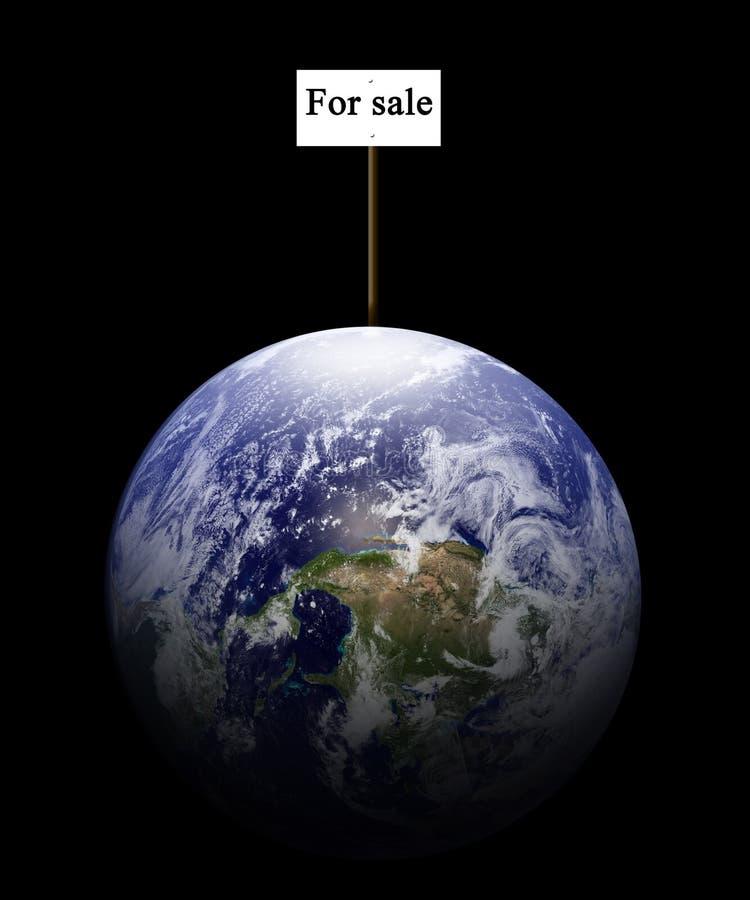 Till salu jord vektor illustrationer