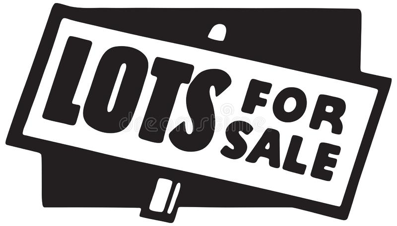 Till salu lotter vektor illustrationer