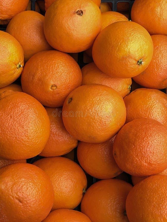 Till salu spanska apelsiner fotografering för bildbyråer