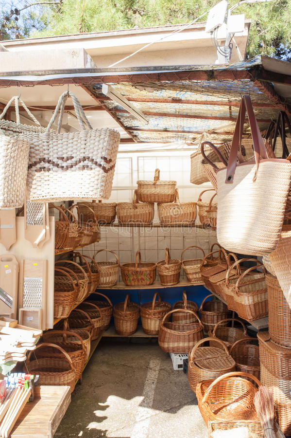 Till salu sugrörhandväskor arkivbilder