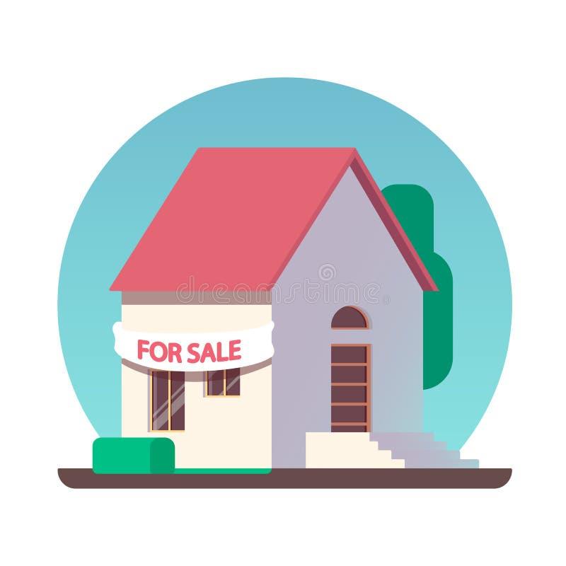 Till salu symbol för hus arkivfoton