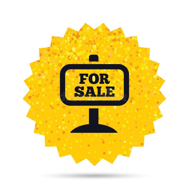 Till salu teckensymbol Sälja för fastighet royaltyfri illustrationer