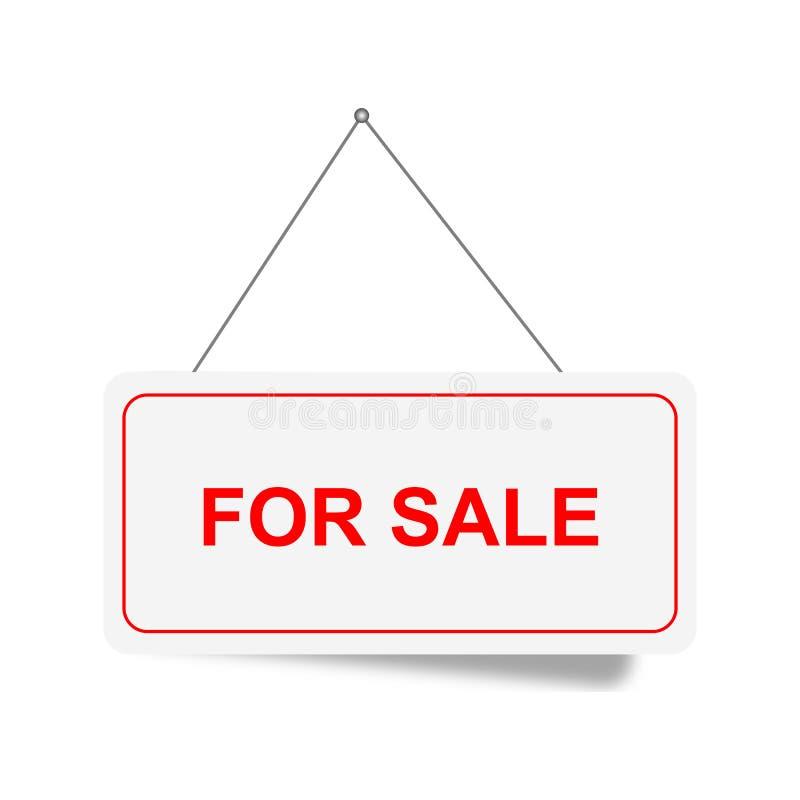 Till salu underteckna stock illustrationer
