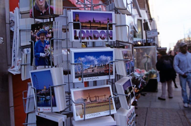 Till salu vykort, London royaltyfri fotografi