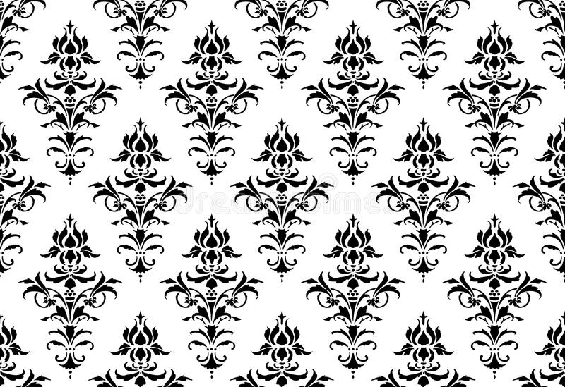 Download Tillable Seamless Victorian Wallpaper Stock Vector - Image: 22360651