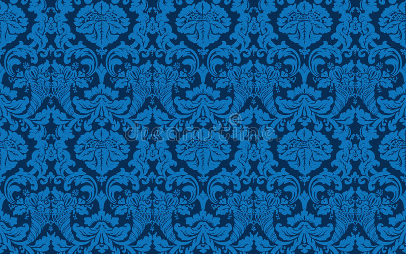 Download Tillable Seamless  Victorian Wallpaper Stock Vector - Image: 22372607