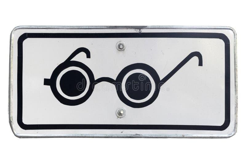 Tillagt fyrkantigt vägmärke för blinda gångare som isoleras på whit royaltyfri illustrationer