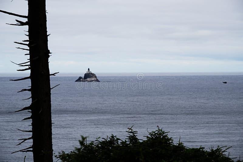 Tillamook-Felsen-Leuchtturm D lizenzfreie stockbilder