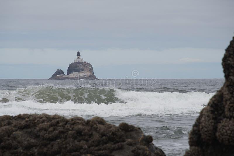 Tillamook-Felsen-Leuchtturm K stockfoto