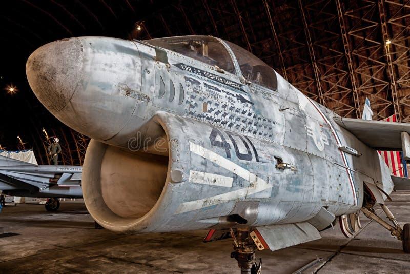 Tillamook staci powietrznej A-7 Morski Corsair II zdjęcie stock
