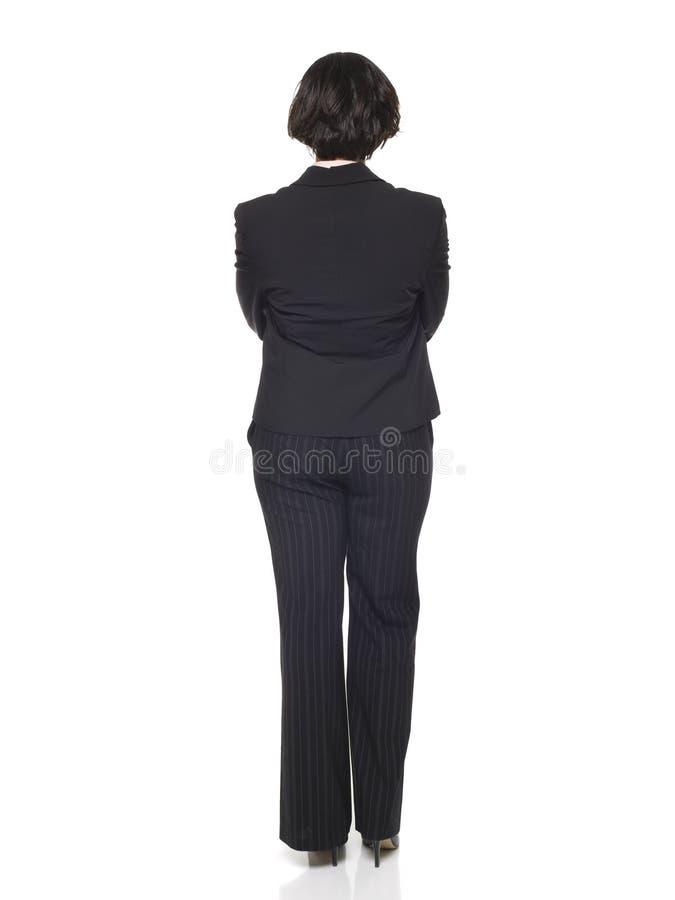 tillbaka affärskvinnasida royaltyfri foto