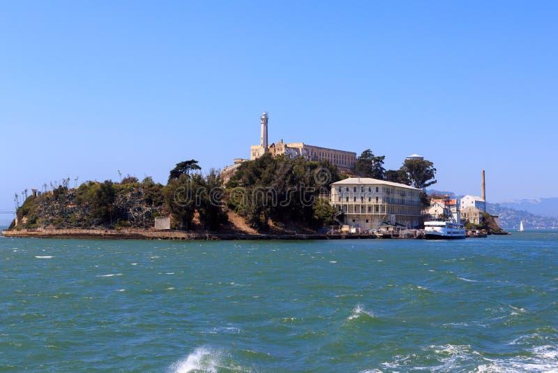 Tillbaka av den Alcatraz ön arkivbild