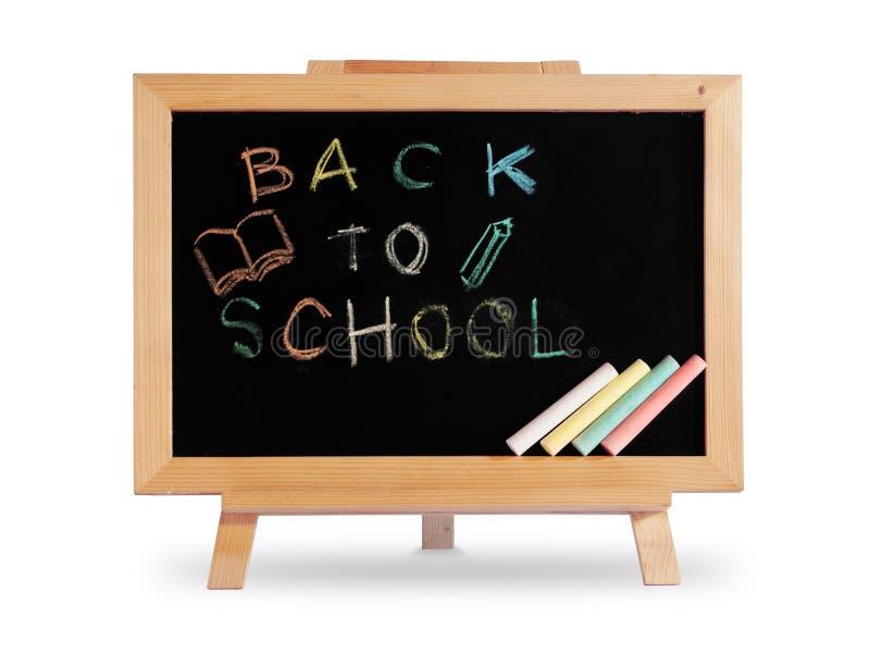 tillbaka blackboardramskola till trä arkivfoto