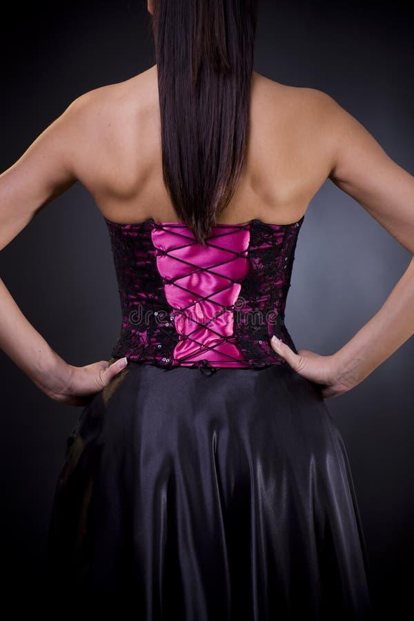 tillbaka coctailklänning royaltyfri fotografi