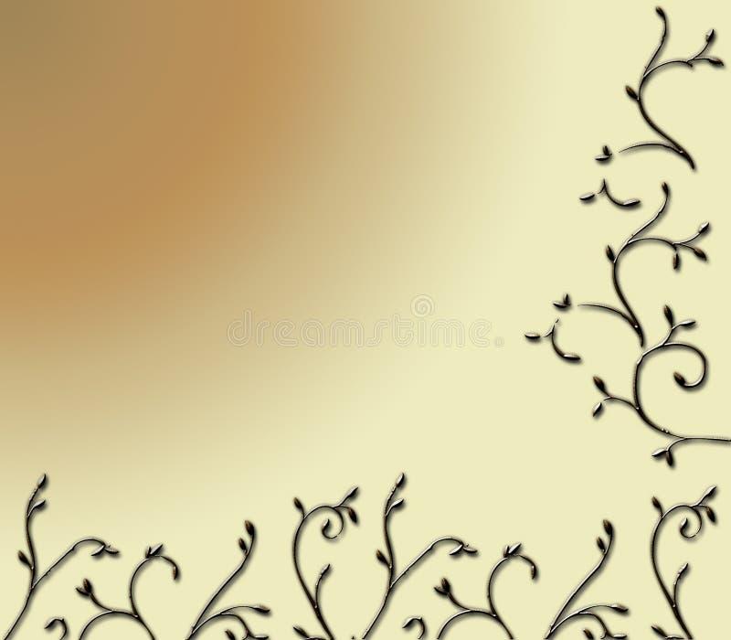tillbaka filial royaltyfri illustrationer
