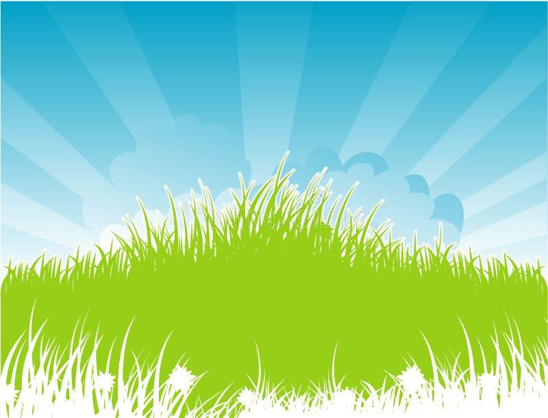 tillbaka grässommar royaltyfri illustrationer