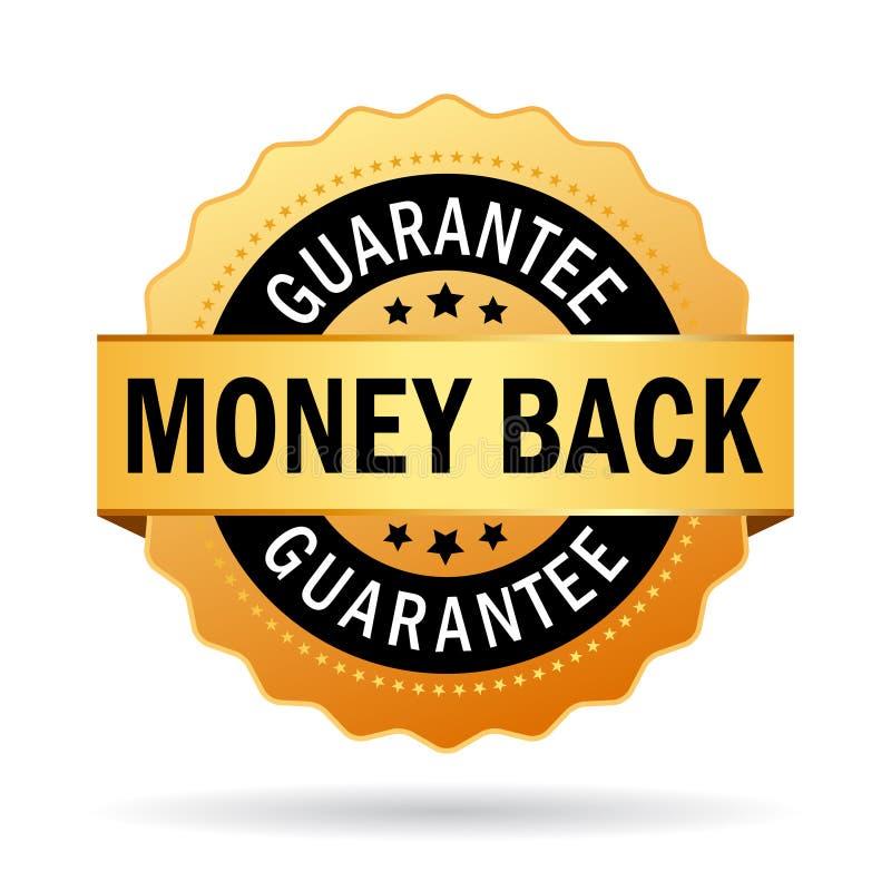 tillbaka guaranteepengar royaltyfri illustrationer
