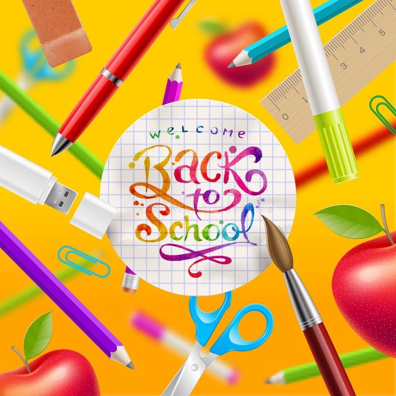 tillbaka illustrationskola till vektor illustrationer