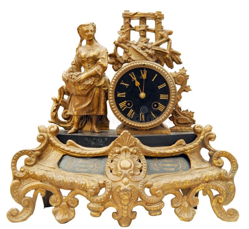 tillbaka klockatappning royaltyfria foton